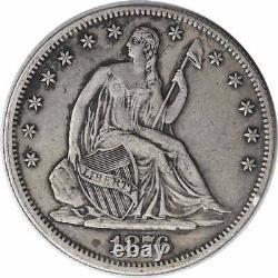 1876-CC Liberty Seated Silver Half Dollar EF Uncertified