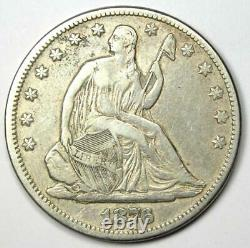 1876-CC Seated Liberty Half Dollar 50C Carson City Coin VF / XF Details
