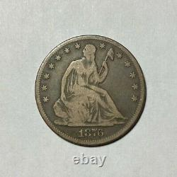 1876-CC Seated Liberty Half Dollar Choice Original Problem Free