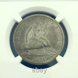 1876 CC Seated Liberty Silver Half Dollar 50c Scarce Carson City Coin NGC AU55