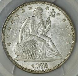 1876 Seated Liberty Half 50c MPD WB-103 AU58 PCGS Secure 943438-2