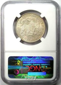 1876 Seated Liberty Half Dollar 50C NGC Uncirculated Details (MS UNC) Rare