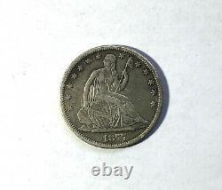 1877 CC Carson City Seated Liberty Silver Half Dollar 50c Coin