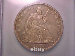 1877-CC Seated Liberty Half ICG VF 35