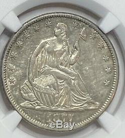 1877 CC Seated Liberty Silver Half Dollar 50C NGC AU53 BETTER DATE CARSON CITY
