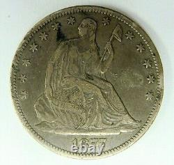 1877 CC Xf Details Liberty Seated Half Dollar