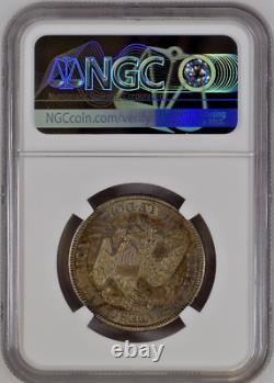 1877 S Liberty Seated Silver Half Dollar 50c Ngc Ms62 Uncirculate Rare Toned