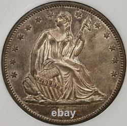 1877-S Liberty Seated half, NGC MS65, ex. Eliasberg Beautiful! DavidKahnRareCoins