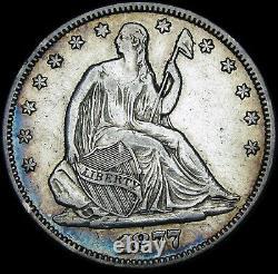 1877 Seated Liberty Half Dollar Silver - Nice Type Coin - #U014