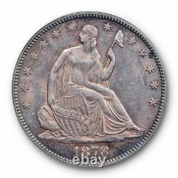 1878 50C Seated Liberty Half Dollar PCGS MS 61 Uncirculated Purple Toned