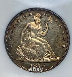 1879 Liberty Seated 50C Half Dollar With Motto Proof TONED
