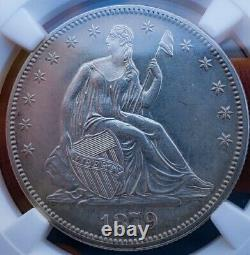 1879 Pf62 Seated Liberty Half Dollar. Hard Date/ Proof. 010