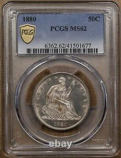 1880 Liberty Seated half dollar, PCGS MS62, original & flashy! DavidKahnRareCoins