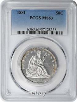 1881 Liberty Seated Silver Half Dollar MS63 PCGS