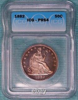 1882 PR-64 Seated Liberty Half Dollar Uncirculated Unc Proof