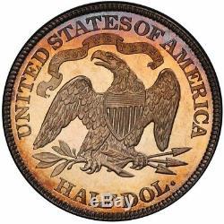 1885 50C Liberty Seated Half Dollar PCGS PR64+CAM CAC