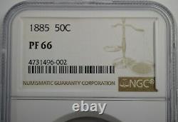 1885 50C Seated Half Dollar Rainbow Toned NGC PF66