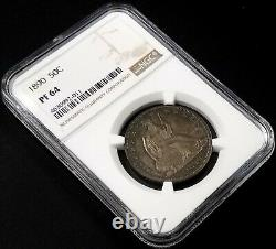 1890 Proof Seated Liberty Half Dollar graded PF 64 by NGC! Very nice toning