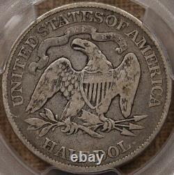 1890 Rare date Seated half dollar, PCGS F12, pleasing originalDavidKahnRareCoins