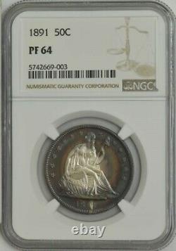 1891 Seated Liberty Half 50c PR64 NGC 943613-18
