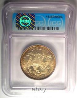 1891 Seated Liberty Half Dollar 50C Coin Certified ICG MS67 (Superb Gem BU)