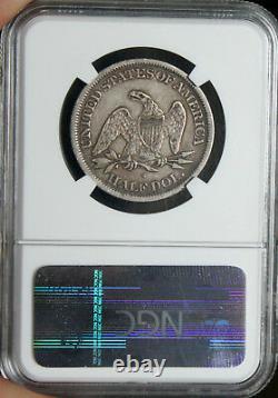 AWESOME XF-40 1865-S Seated Liberty Half Dollar 50c NGC NICE PEDIGREE