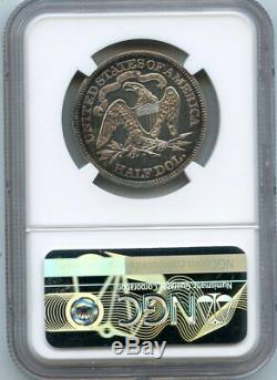 C12948- 1871 Proof Seated Liberty Half Dollar Ngc Pr62 960 Minted