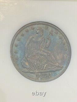 M13152- 1870 Proof Seated Liberty Half Dollar Ngc Pr63 Color- Old Fatty Holder