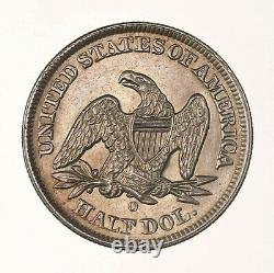 Raw 1855-O Seated Liberty 50C Circualted US Mint Ungraded Silver Half Dollar