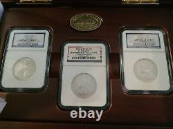 SS Republic Shipwreck 3 Coin Set 1858-61 O Seated Halves In Display NGC