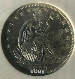 Ss Republic, U. S. Issue 1860 O Shipwreck Effect (b)au Liberty Seated Half Dollar