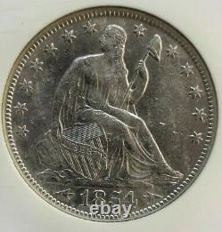 Very Nice Ss Republic 1854 O Shipwreck Effect Liberty Seated Half Dollar