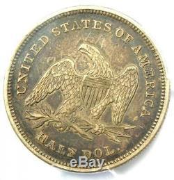 1839 Draperie Assis Liberté Demi-dollar 50c Certifié Pcgs Xf Détails (ef)