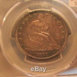 1840 Dollar Seated Demi-liberté Inversée De 1839 Pcgs Xf45