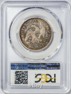 1840 Inverse De 1839 50c Assis Liberté Pcgs Au50 Demi-dollar