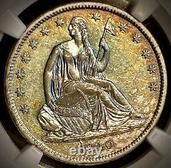 1840 Liberté Assise Demi Dollar Sm Lettres Ngc Au55+