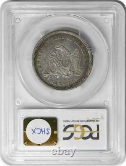 1840 Liberty Seated Argent Demi-dollar Inverser De 1839 Ef40 Pcgs