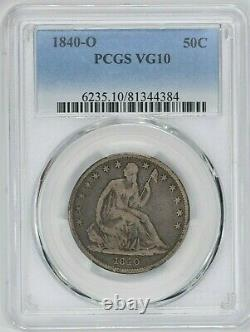 1840-o 50c Seated Liberty Demi-dollar Pcgs Vg 10 Witter Coin