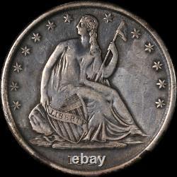 1840-o Assis Demi-dollar Vf / Xf Détails Appel Oeil Décent