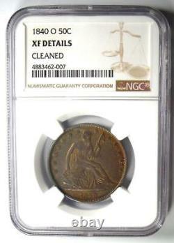1840-o Assis Liberty Half Dollar 50c Certifié Ngc Xf Détail Pièce Rare