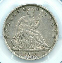 1840 (o) Inverse De 1838, Liberté Seated Demi-dollar, Pcgs Xf40