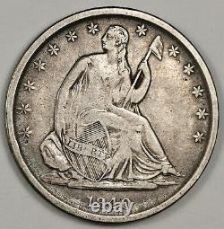 1840-o Seated Liberty Demi. Erreur Wb-11. Die Cracks Obverse. À Propos De Xf 151930