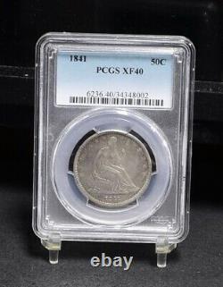 1841 Liberté Assis Half Dollar Pcgs Xf40 (# 30774)