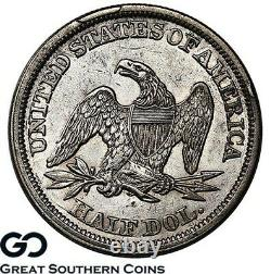 1842 Assis Liberté Demi-dollar, Sm Date, Lg. Lettres, Choix Au + Better Date
