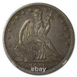 1842-o Assis Liberty Demi-dollar Au-50 Ngc (date Moyenne) Sku#217389