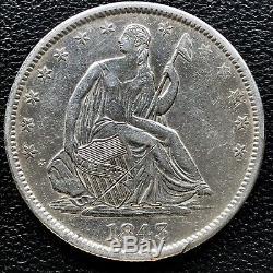 1843 O Assis Liberté Demi-dollar 50c Meilleure Note Au Détails # 16704