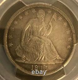 1843. Seated Liberty Moitié, Pcgs Xf40, Date Rare