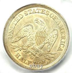 1843-o Seated Liberty Half Dollar 50c Pièce Certifiée Icg Ms62 2 190 $ Valeur