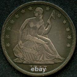 1843 (xf) 50c Liberté Assise Demi-dollar