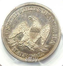 1844 Seated Liberté Half Dollar 50c Certifié Pcgs Xf Détails Rare Coin